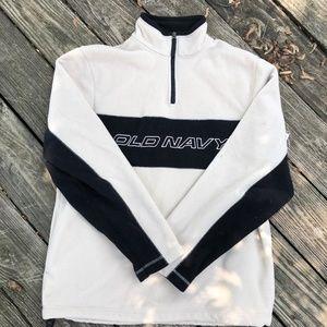 Old Navy Men's Fleece Pullover Zip-Up Medium